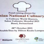 28 Oct 2013 – Fund Raising Dinner @ Double Tree by Hilton Kuala Lumpur