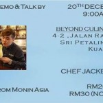 20 Dec 2014 ~ Mixology Demo & Talk @ Beyond Culinary Studio
